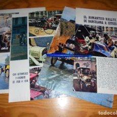 Coleccionismo de Revista Blanco y Negro: RECORTE PRENSA : EL ROMANTICO RALLYE DE BARCELONA A SITGES. BLANCO Y NEGRO, MARZO, 1968. Lote 122197603