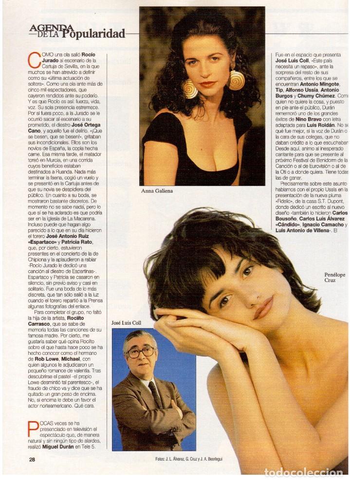 Coleccionismo de Revista Blanco y Negro: 1994. ANNA GALIENA.COQUE MALLA.BEATRIZ RICO.SYLVESTER STALLONE.SUSANA FUJIMORI. VER SUMARIO. - Foto 3 - 123073631