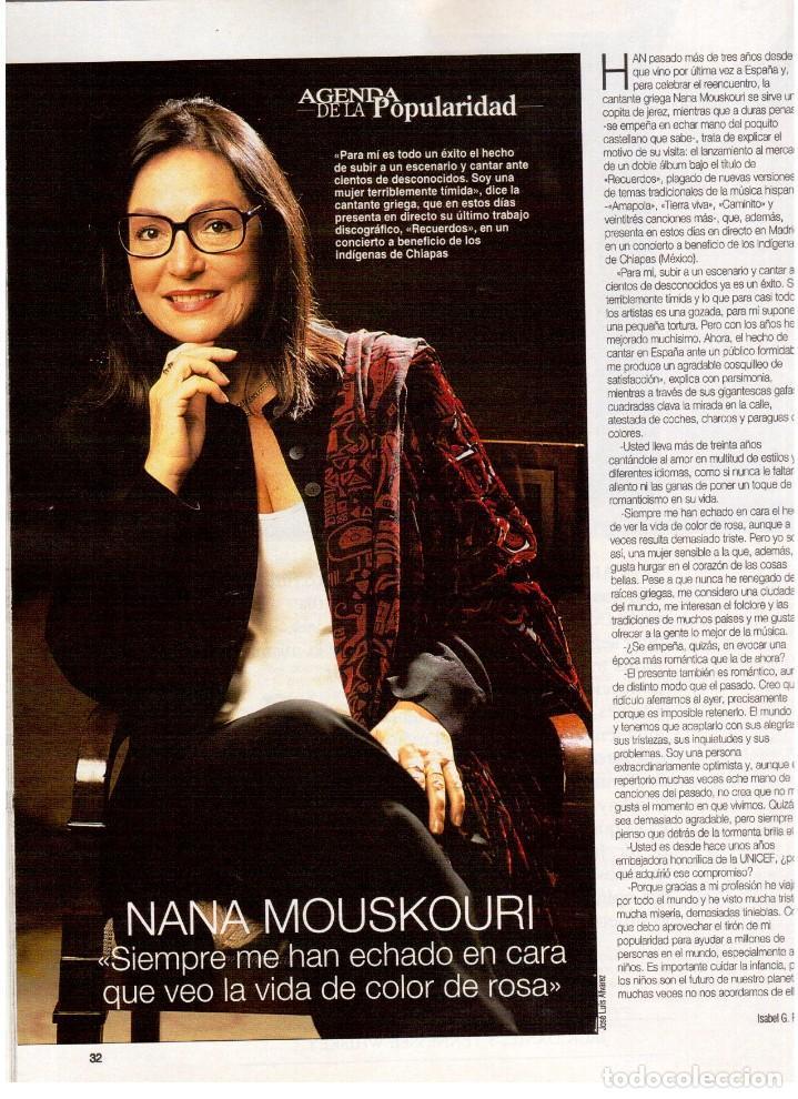 Coleccionismo de Revista Blanco y Negro: 1994. maribel verdú. nacho cano de mecano.nana mouskouri. silvia tortosa. - Foto 4 - 123078935