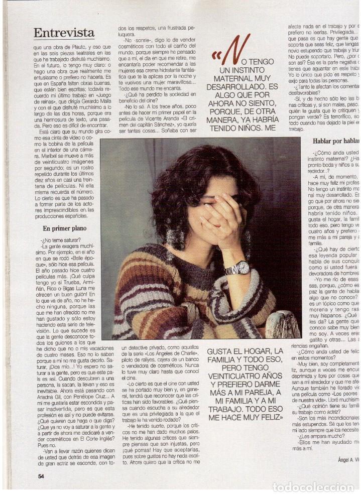 Coleccionismo de Revista Blanco y Negro: 1994. maribel verdú. nacho cano de mecano.nana mouskouri. silvia tortosa. - Foto 10 - 123078935