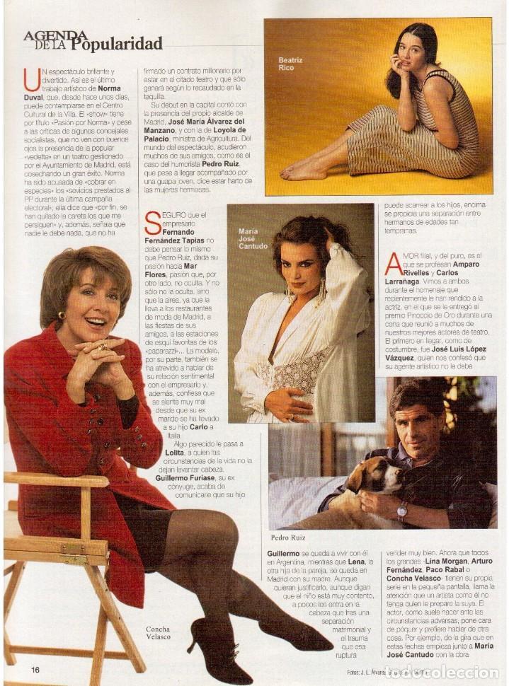 Coleccionismo de Revista Blanco y Negro: 1994. MAR FLORES. BEATRIZ RICO. MARÍA JOSÉ CANTUDO. CONCHA VELASCO. PATRICIA ARQUETTE. VER SUMARIO. - Foto 7 - 123129823