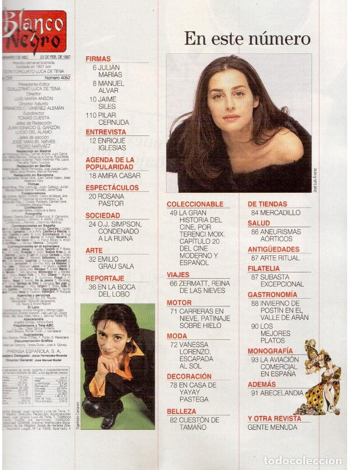 Coleccionismo de Revista Blanco y Negro: 1997. ENRIQUE IGLESIAS.MARTA SÁNCHEZ.BLANCA SUELVES.ESTEFANIA LUIK.ROCÍO JURADO. - Foto 2 - 123315755