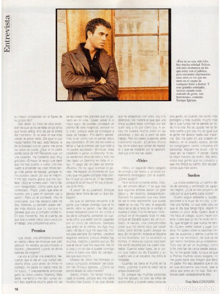 Coleccionismo de Revista Blanco y Negro: 1997. ENRIQUE IGLESIAS.MARTA SÁNCHEZ.BLANCA SUELVES.ESTEFANIA LUIK.ROCÍO JURADO. - Foto 7 - 123315755