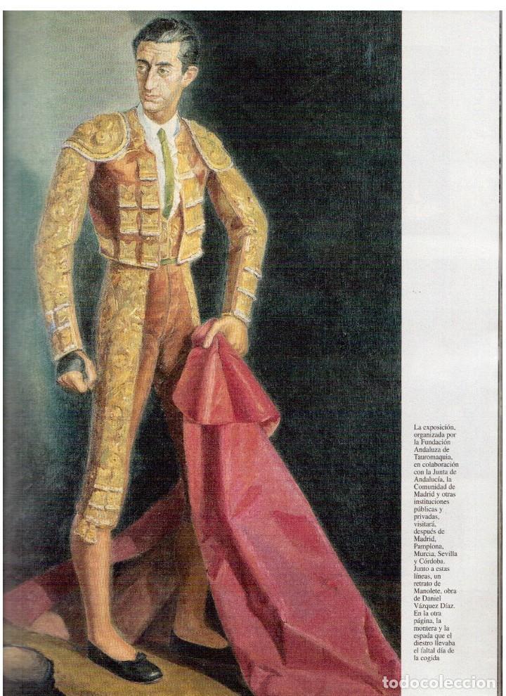 Coleccionismo de Revista Blanco y Negro: 1997. MANOLETE. PAULA VAZQUEZ. IVONNE REYES.MILLA JOVOVICH.MARIBEL VERDÚ. VER SUMARIO. - Foto 3 - 123394563