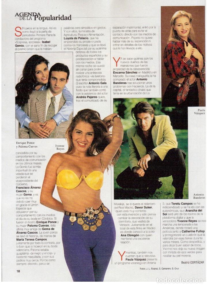 Coleccionismo de Revista Blanco y Negro: 1997. MANOLETE. PAULA VAZQUEZ. IVONNE REYES.MILLA JOVOVICH.MARIBEL VERDÚ. VER SUMARIO. - Foto 4 - 123394563