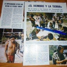 Collezionismo di Rivista Blanco y Negro: RECORTE PRENSA : FELIX RODRIGUEZ DE LA FUENTE, RUEDA EL HOMBRE Y LA TIERRA. BLANCO NEGRO,MRZO 1974. Lote 124279659
