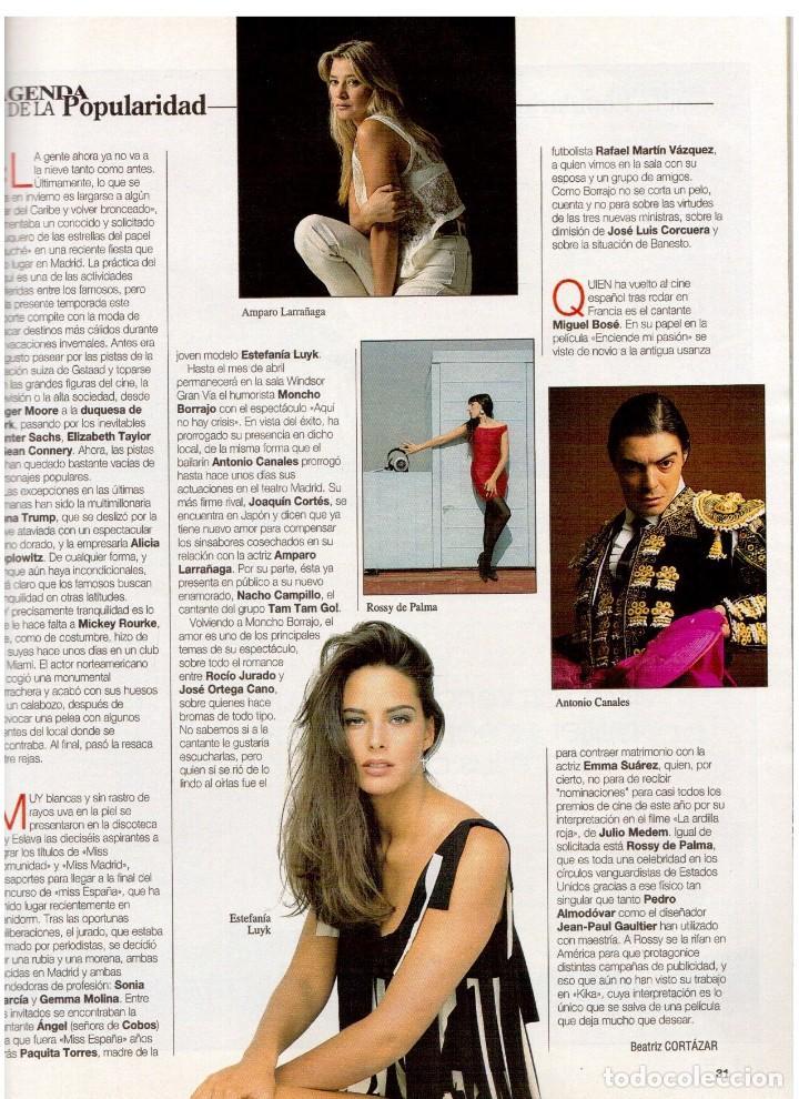 Coleccionismo de Revista Blanco y Negro: 1994. BLANCA SUELVES. ANA OBREGÓN. JUDIT MASCÓ. ESTEFANÍA LUIK. NATALIA DICENTA. VER SUMARIO... - Foto 3 - 125262279