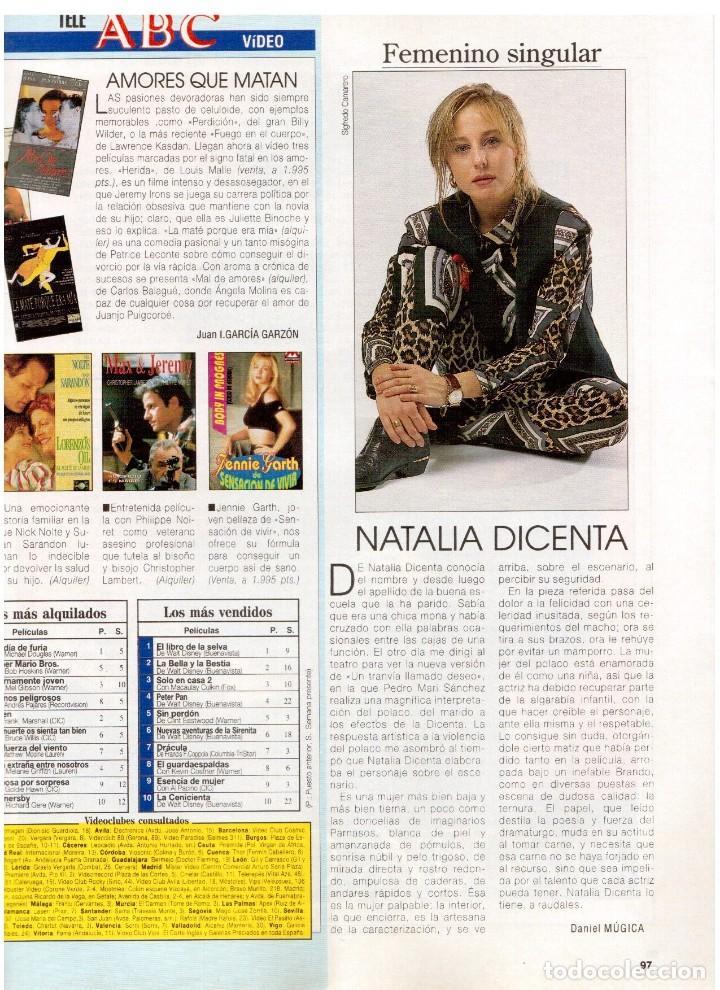 Coleccionismo de Revista Blanco y Negro: 1994. BLANCA SUELVES. ANA OBREGÓN. JUDIT MASCÓ. ESTEFANÍA LUIK. NATALIA DICENTA. VER SUMARIO... - Foto 14 - 125262279