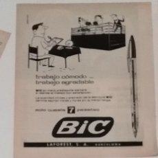Coleccionismo de Revista Blanco y Negro: ANUNCIO BOLÍGRAFO BIC EN 1960 EN RECORTE (R3839) 1 PÁGINA REVISTA BLANCO Y NEGRO ESE AÑO. Lote 125575559