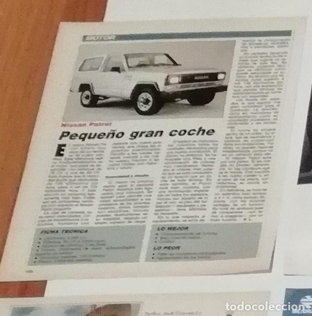 REPORTAJE NISSAN PATROL DE 1988 EN RECORTE (R3862) 1 PÁGINA REVISTA VIAJAR ESE AÑO (Coleccionismo - Revistas y Periódicos Modernos (a partir de 1.940) - Blanco y Negro)