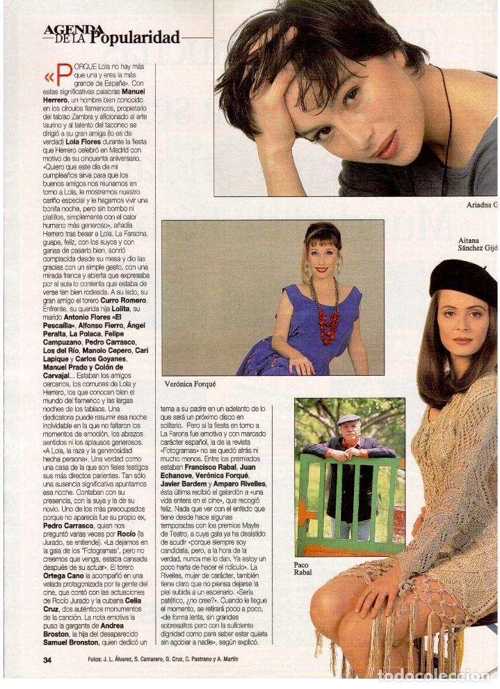 Coleccionismo de Revista Blanco y Negro: 1994. INSTINTO BASINGER. INÉS SASTRE. ARIADNA GIL. AITANA SÁNCHEZ GIJÓN. VER SUMARIO ... - Foto 5 - 125885747