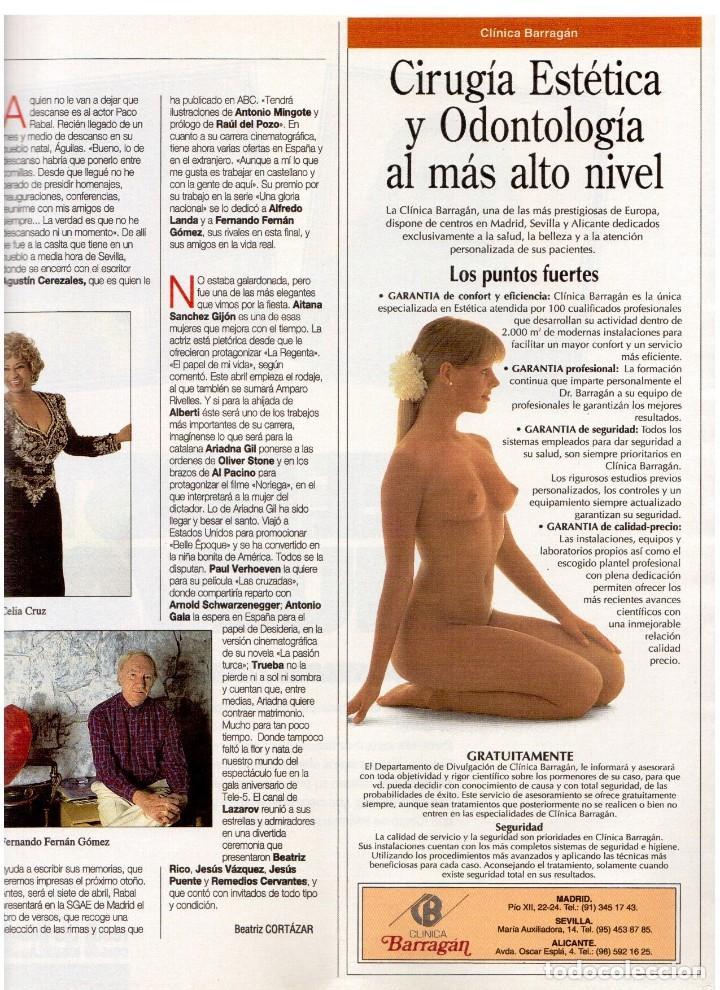Coleccionismo de Revista Blanco y Negro: 1994. INSTINTO BASINGER. INÉS SASTRE. ARIADNA GIL. AITANA SÁNCHEZ GIJÓN. VER SUMARIO ... - Foto 6 - 125885747