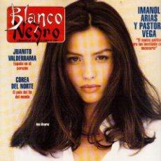 Coleccionismo de Revista Blanco y Negro: 1994. ALEJANDRO SANZ. ANA ALVAREZ. MARIBEL SANZ. JUANITO VALDERRAMA. IMANOL ARIAS. PASTORA VEGA.. Lote 126005111