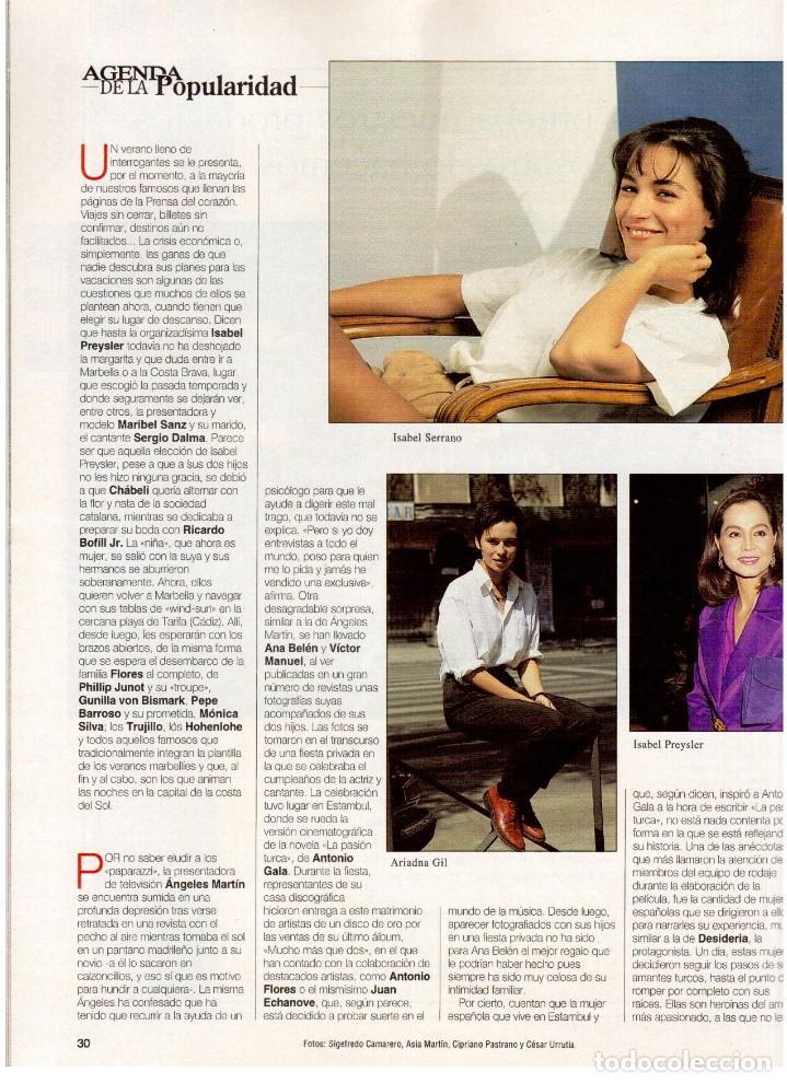 Coleccionismo de Revista Blanco y Negro: 1994. ALEJANDRO SANZ. ANA ALVAREZ. MARIBEL SANZ. JUANITO VALDERRAMA. IMANOL ARIAS. PASTORA VEGA. - Foto 6 - 126005111