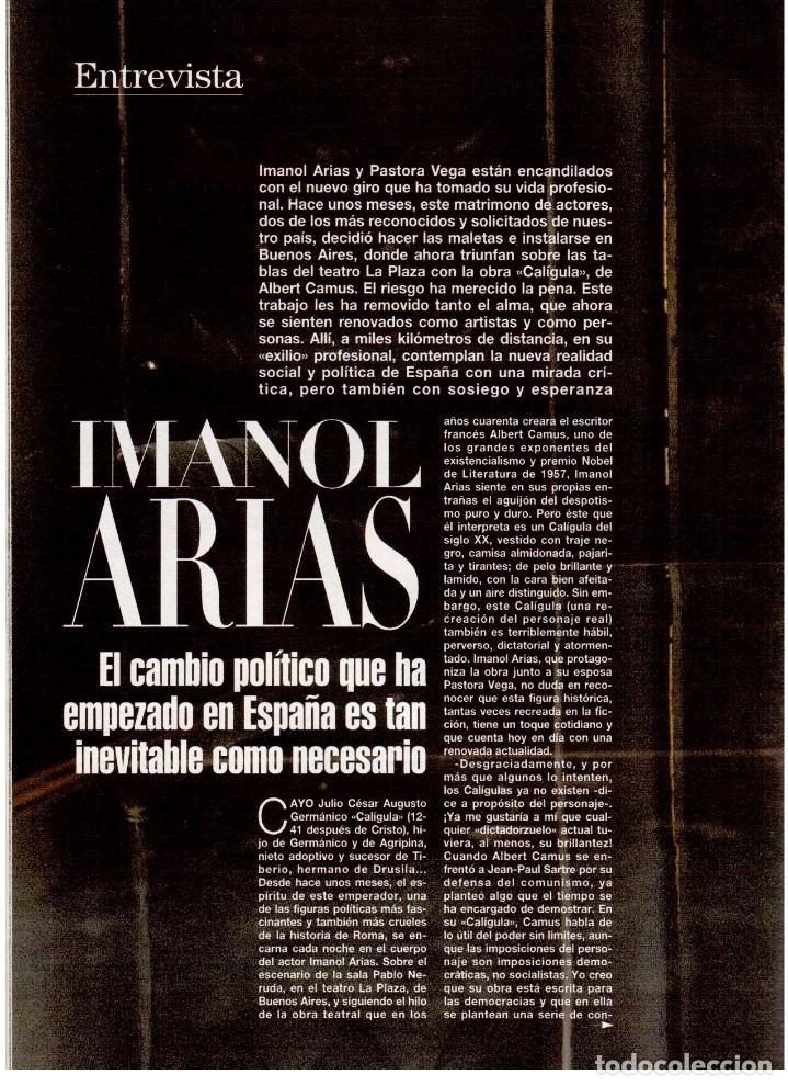 Coleccionismo de Revista Blanco y Negro: 1994. ALEJANDRO SANZ. ANA ALVAREZ. MARIBEL SANZ. JUANITO VALDERRAMA. IMANOL ARIAS. PASTORA VEGA. - Foto 12 - 126005111