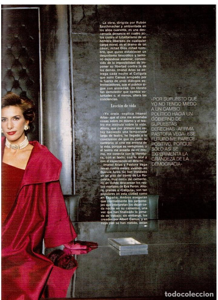 Coleccionismo de Revista Blanco y Negro: 1994. ALEJANDRO SANZ. ANA ALVAREZ. MARIBEL SANZ. JUANITO VALDERRAMA. IMANOL ARIAS. PASTORA VEGA. - Foto 15 - 126005111