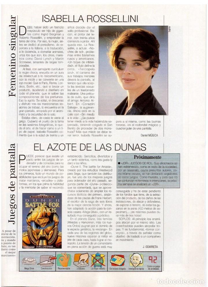 Coleccionismo de Revista Blanco y Negro: 1994. ALEJANDRO SANZ. ANA ALVAREZ. MARIBEL SANZ. JUANITO VALDERRAMA. IMANOL ARIAS. PASTORA VEGA. - Foto 22 - 126005111