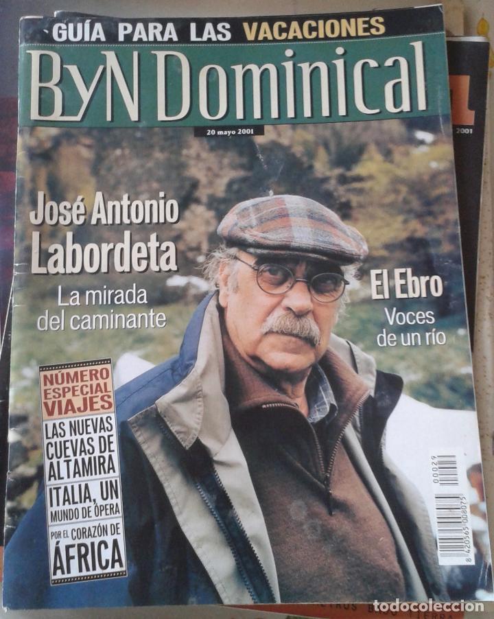 BLANCO Y NEGRO DOMINICAL. JOSE ANTONIO LABORDETA. 20 MAYO 2001 (Coleccionismo - Revistas y Periódicos Modernos (a partir de 1.940) - Blanco y Negro)