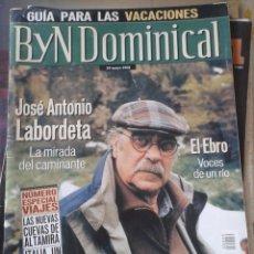 Coleccionismo de Revista Blanco y Negro: BLANCO Y NEGRO DOMINICAL. JOSE ANTONIO LABORDETA. 20 MAYO 2001. Lote 128489103