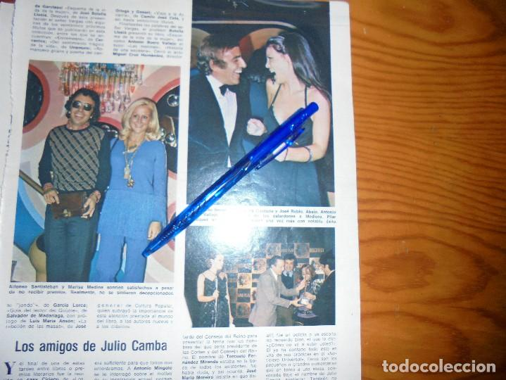 RECORTE PRENSA : MARIA JOSE CANTUDO, PILAR VELAZQUEZ . BLANCO NEGRO, DCBRE 1975 (Coleccionismo - Revistas y Periódicos Modernos (a partir de 1.940) - Blanco y Negro)