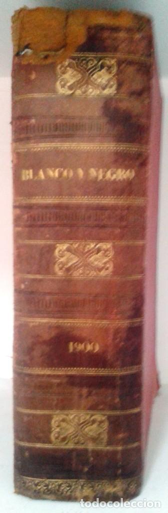 Coleccionismo de Revista Blanco y Negro: BLANCO Y NEGRO AÑOS TOMOS COMPLETOS 1900 1902 - Foto 2 - 130585014