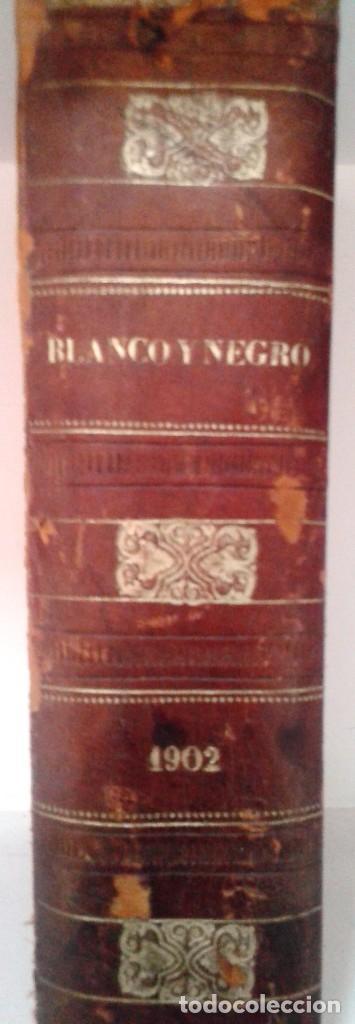 Coleccionismo de Revista Blanco y Negro: BLANCO Y NEGRO AÑOS TOMOS COMPLETOS 1900 1902 - Foto 3 - 130585014