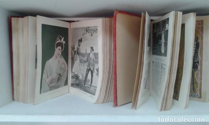 Coleccionismo de Revista Blanco y Negro: BLANCO Y NEGRO AÑOS TOMOS COMPLETOS 1900 1902 - Foto 5 - 130585014