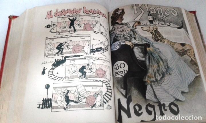 Coleccionismo de Revista Blanco y Negro: BLANCO Y NEGRO AÑOS TOMOS COMPLETOS 1900 1902 - Foto 6 - 130585014