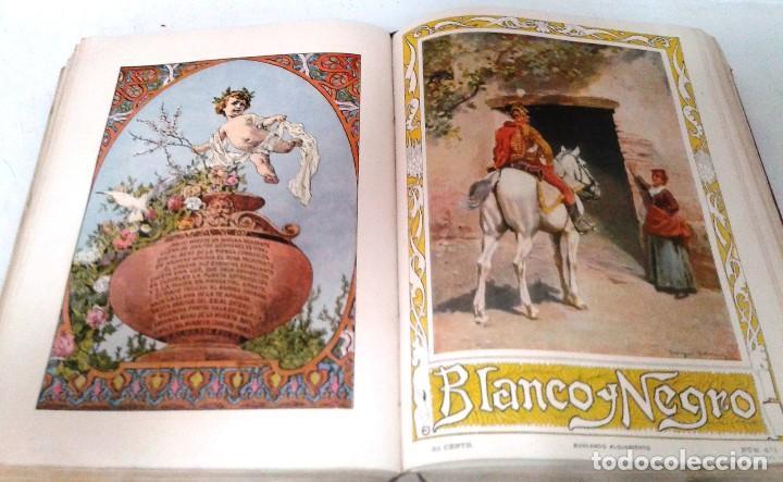 Coleccionismo de Revista Blanco y Negro: BLANCO Y NEGRO AÑOS TOMOS COMPLETOS 1900 1902 - Foto 9 - 130585014