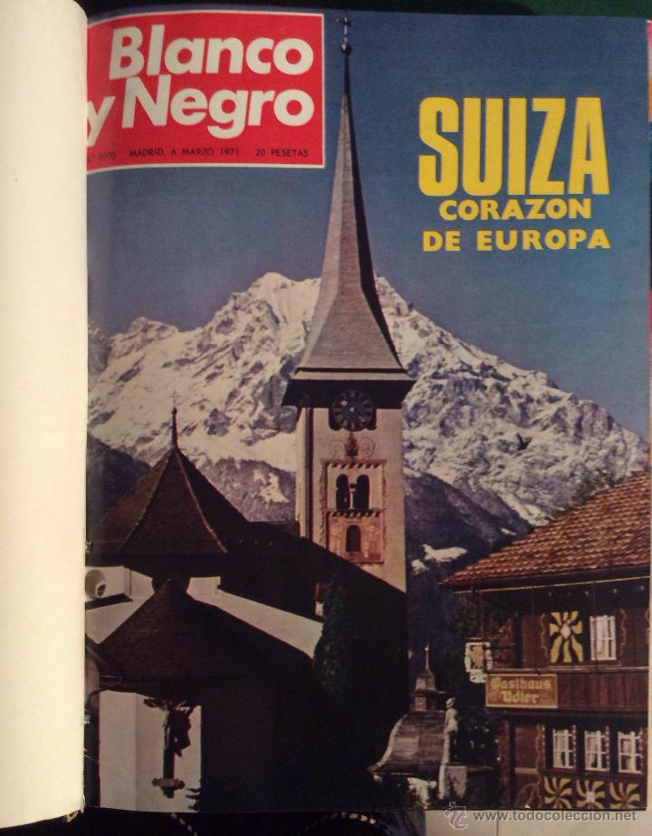 Coleccionismo de Revista Blanco y Negro: BLANCO Y NEGRO AÑO 1971 revistas encuadernadas ,,Ideal coleccionistas - Foto 2 - 132292822