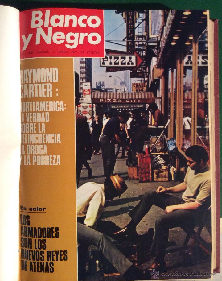 Coleccionismo de Revista Blanco y Negro: BLANCO Y NEGRO AÑO 1971 revistas encuadernadas ,,Ideal coleccionistas - Foto 3 - 132292822