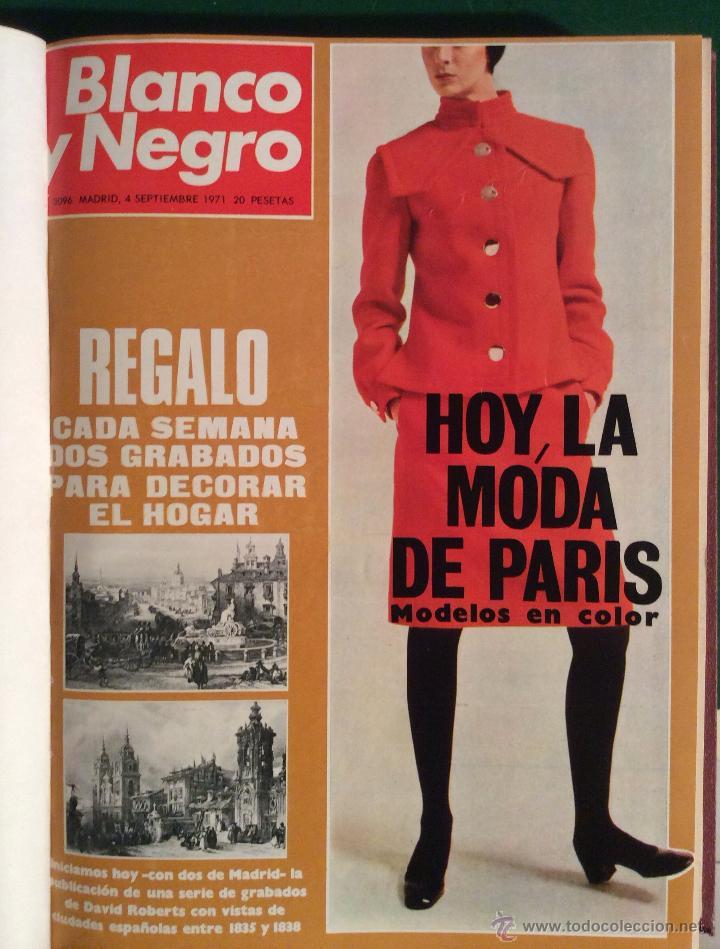 Coleccionismo de Revista Blanco y Negro: BLANCO Y NEGRO AÑO 1971 revistas encuadernadas ,,Ideal coleccionistas - Foto 4 - 132292822