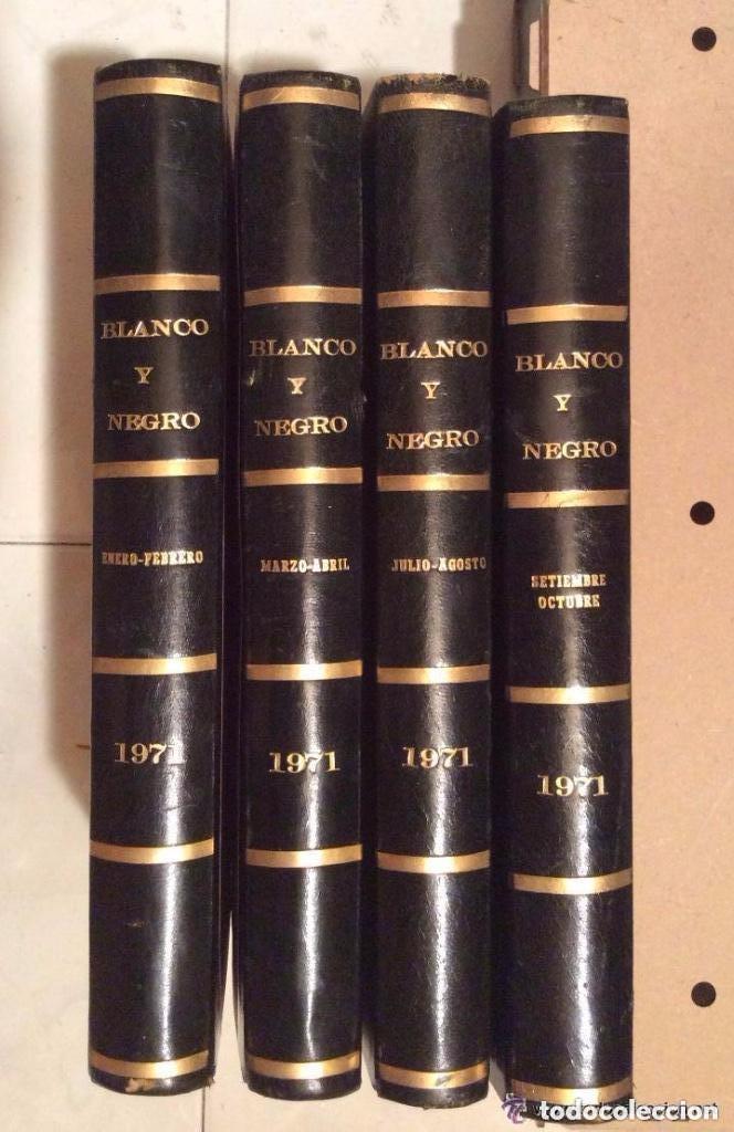 BLANCO Y NEGRO AÑO 1971 REVISTAS ENCUADERNADAS ,,IDEAL COLECCIONISTAS (Coleccionismo - Revistas y Periódicos Modernos (a partir de 1.940) - Blanco y Negro)
