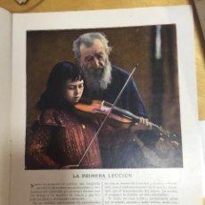 Coleccionismo de Revista Blanco y Negro: LA PRIMERA LECCION. BLANCO Y NEGRO 12 DE MAYO DE 1912. PRIMERA FOTOGRAFIA A COLOR PUBLICADA.. Lote 133137390
