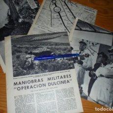 Coleccionismo de Revista Blanco y Negro: RECORTE PRENSA : MANIOBRAS MILITARES : OPERACION DULCINEA. BLANCO Y NEGRO, JULIO 1959. Lote 133622510