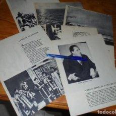 Coleccionismo de Revista Blanco y Negro: RECORTE PRENSA : POESIA GUERRERA DE AGUSTIN DE FOXA. BLANCO Y NEGRO, JULIO 1959. Lote 133622590