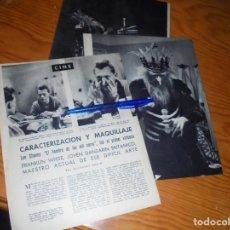 Coleccionismo de Revista Blanco y Negro: RECORTE PRENSA : CARACTERIZACION Y MAQUILLAJE. BLANCO Y NEGRO, JULIO 1959. Lote 133623514