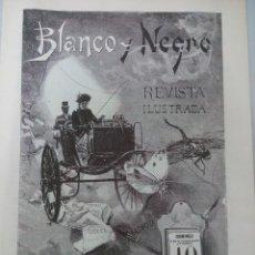 Coleccionismo de Revista Blanco y Negro: REPLICA BLANCO Y NEGRO NUMERO 1 AÑO 1891.. Lote 133716890