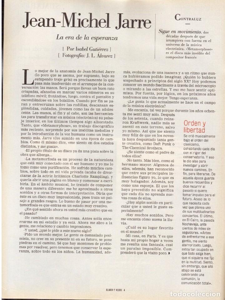 Coleccionismo de Revista Blanco y Negro: 2000. SIGOURNEY WEAVER. JEAN - MICHEL JARRE. LOCURAS DALINIANAS. BOXEO. VER SUMARIO. - Foto 3 - 133816746