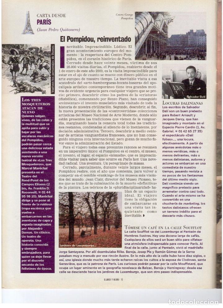 Coleccionismo de Revista Blanco y Negro: 2000. SIGOURNEY WEAVER. JEAN - MICHEL JARRE. LOCURAS DALINIANAS. BOXEO. VER SUMARIO. - Foto 5 - 133816746