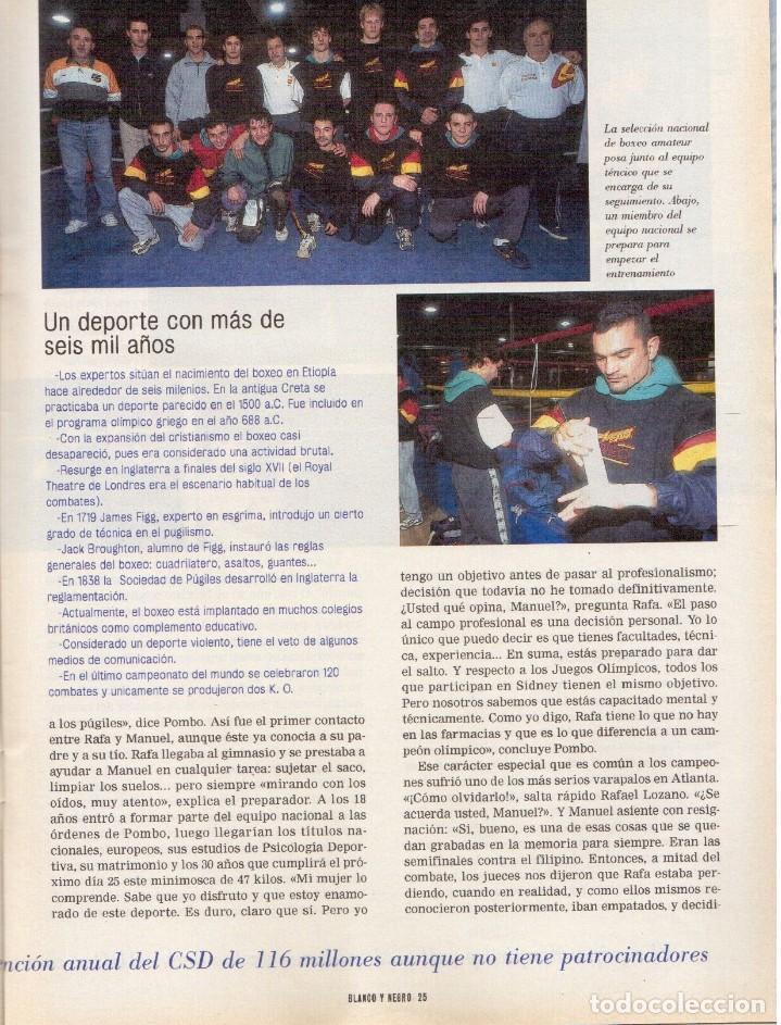Coleccionismo de Revista Blanco y Negro: 2000. SIGOURNEY WEAVER. JEAN - MICHEL JARRE. LOCURAS DALINIANAS. BOXEO. VER SUMARIO. - Foto 11 - 133816746