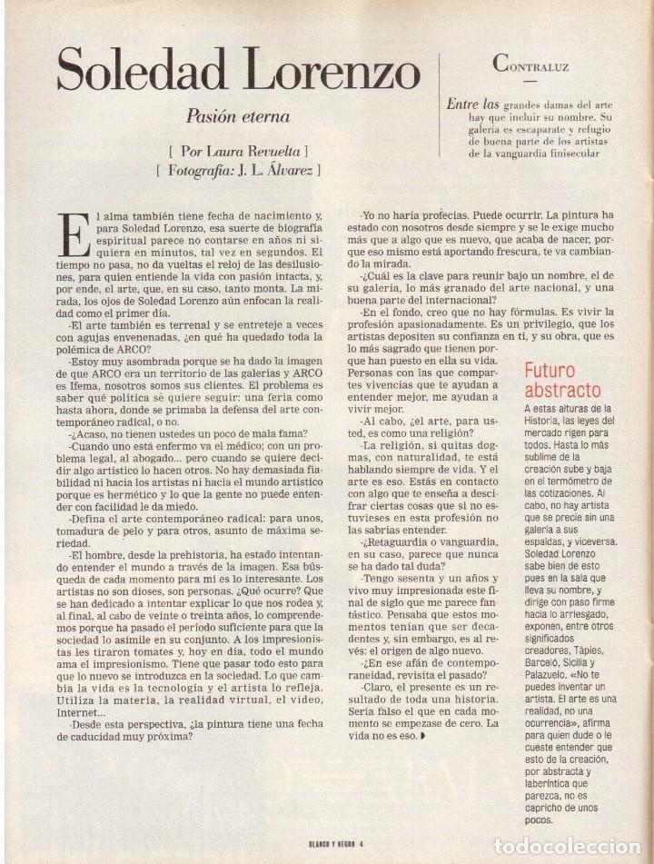 Coleccionismo de Revista Blanco y Negro: 1999. IMAN Y WALLIS DIRIE, CONTRA LA ABLACIÓN. SOLEDAD LORENZO. ANDREA BOCELLI. VER SUMARIO. - Foto 3 - 133905178