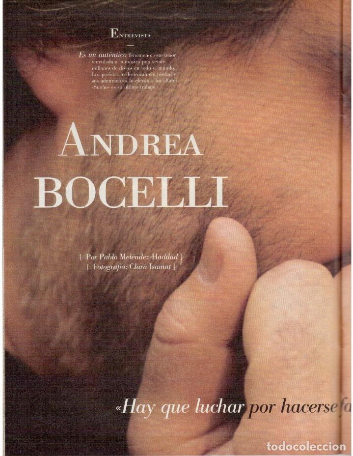 Coleccionismo de Revista Blanco y Negro: 1999. IMAN Y WALLIS DIRIE, CONTRA LA ABLACIÓN. SOLEDAD LORENZO. ANDREA BOCELLI. VER SUMARIO. - Foto 5 - 133905178