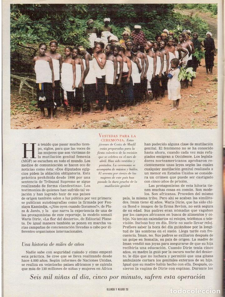 Coleccionismo de Revista Blanco y Negro: 1999. IMAN Y WALLIS DIRIE, CONTRA LA ABLACIÓN. SOLEDAD LORENZO. ANDREA BOCELLI. VER SUMARIO. - Foto 9 - 133905178