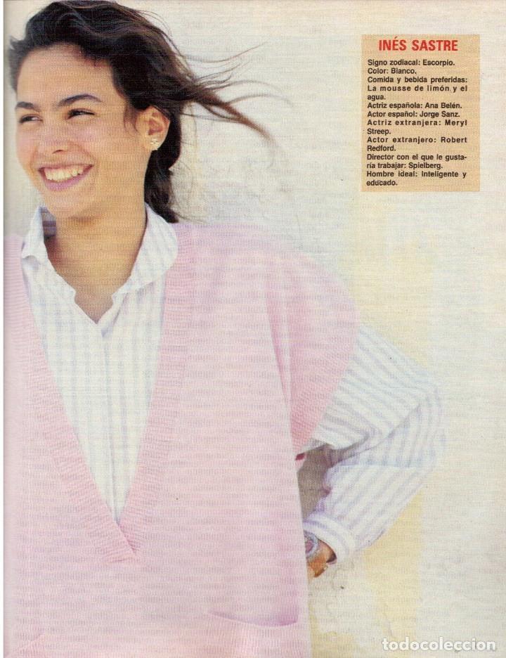 Coleccionismo de Revista Blanco y Negro: 1988. ROCIO JURADO. INÉS SASTRE. ALEJANDRA GREPI. EMMA SUÁREZ. LYDIA BOSCH. VER SUMARIO. - Foto 3 - 134360978