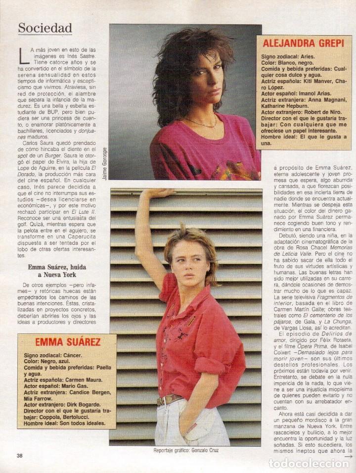 Coleccionismo de Revista Blanco y Negro: 1988. ROCIO JURADO. INÉS SASTRE. ALEJANDRA GREPI. EMMA SUÁREZ. LYDIA BOSCH. VER SUMARIO. - Foto 4 - 134360978