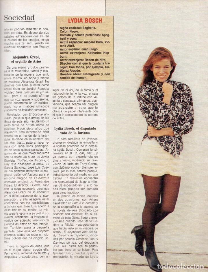 Coleccionismo de Revista Blanco y Negro: 1988. ROCIO JURADO. INÉS SASTRE. ALEJANDRA GREPI. EMMA SUÁREZ. LYDIA BOSCH. VER SUMARIO. - Foto 5 - 134360978