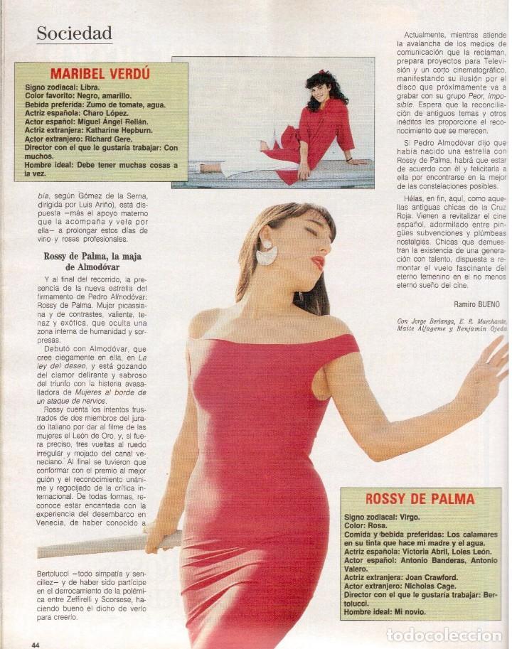 Coleccionismo de Revista Blanco y Negro: 1988. ROCIO JURADO. INÉS SASTRE. ALEJANDRA GREPI. EMMA SUÁREZ. LYDIA BOSCH. VER SUMARIO. - Foto 7 - 134360978