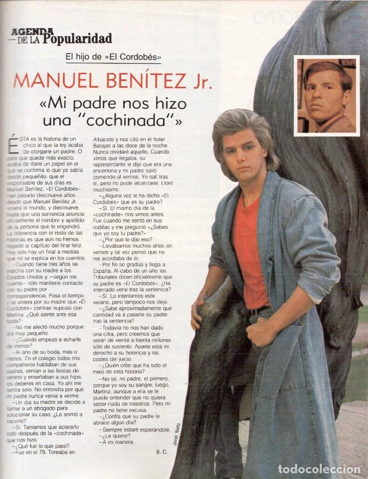 Coleccionismo de Revista Blanco y Negro: 1988. ROCIO JURADO. INÉS SASTRE. ALEJANDRA GREPI. EMMA SUÁREZ. LYDIA BOSCH. VER SUMARIO. - Foto 8 - 134360978