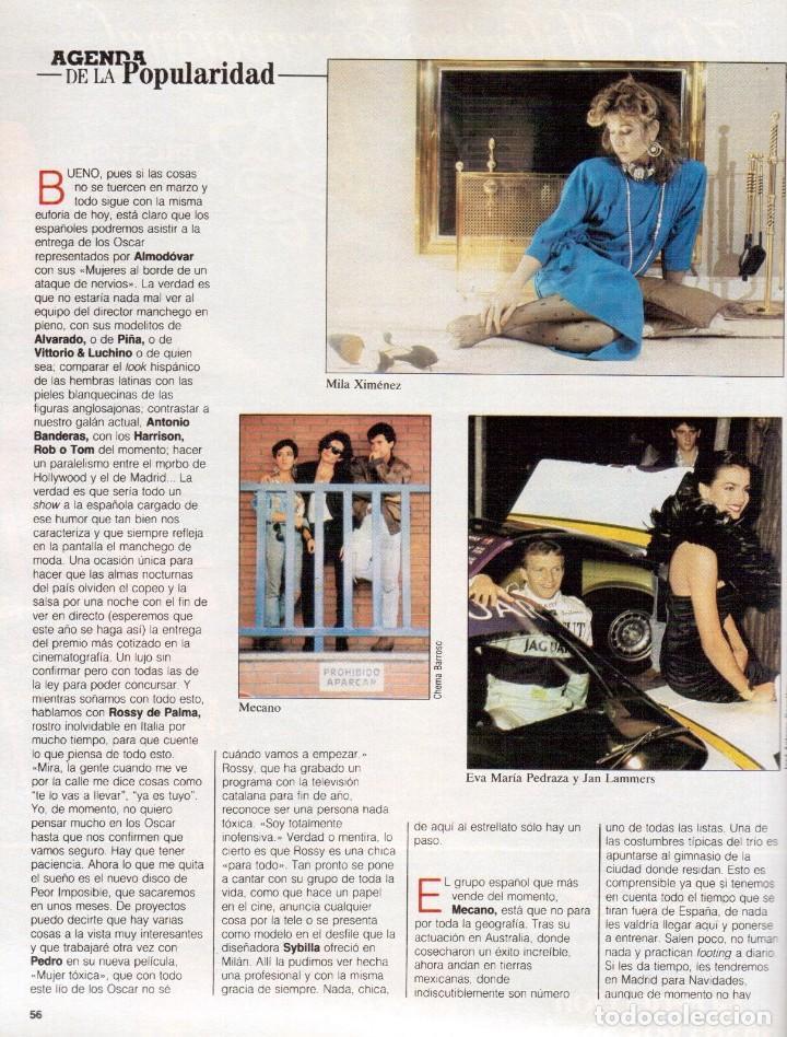 Coleccionismo de Revista Blanco y Negro: 1988. ROCIO JURADO. INÉS SASTRE. ALEJANDRA GREPI. EMMA SUÁREZ. LYDIA BOSCH. VER SUMARIO. - Foto 9 - 134360978